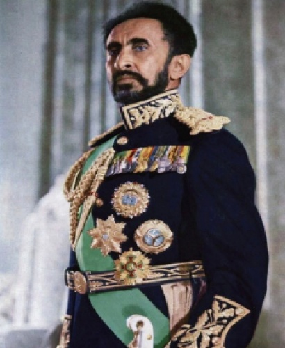 Credit: History Revealed. Haile Selassie's coronation was a lavish affair attended by royals and representatives from all over the world.