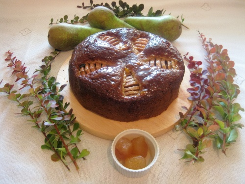 GINGER & PEAR CAKE recipe