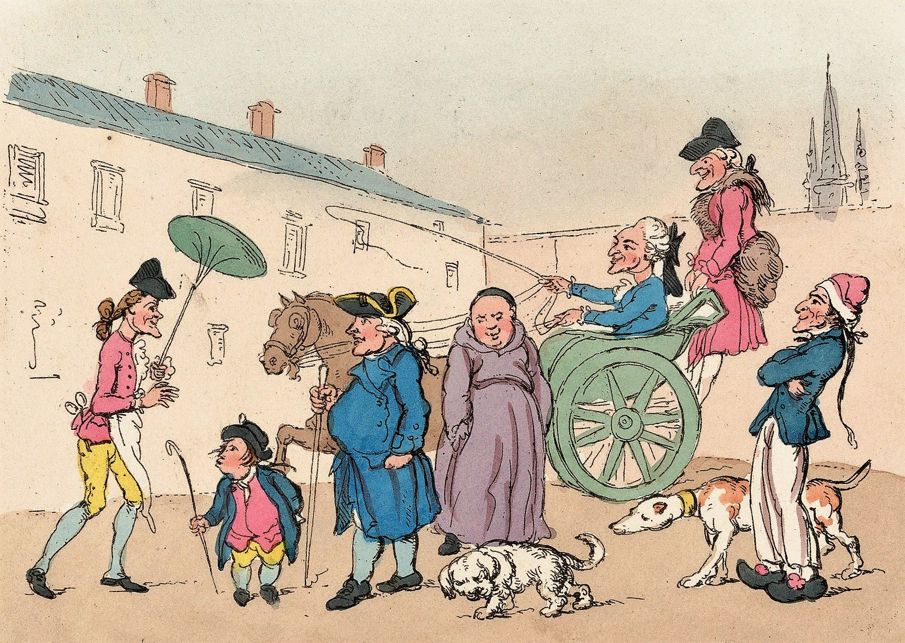 Paris, considered the greatest city in 18th-century Europe, was usually the first stop on the Grand Tour, as depicted in this satirical print, Englishman at Paris, after W H Bunbury, 1767  © Wikimedia Commons