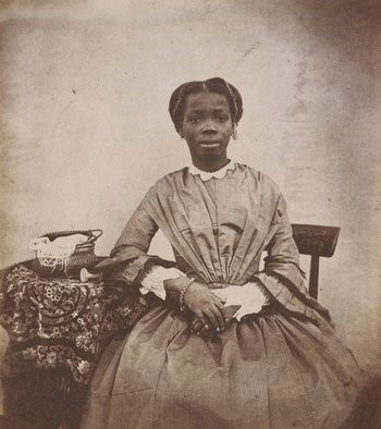 "Sarah was described by Captain Forbes as possessing ""intelligence of no common order"".  He wrote: She is far in advance of any white child of her age, in aptness of learning, and strength of mind and affection"". Photograph - Royal Collection Trust rct.uk"