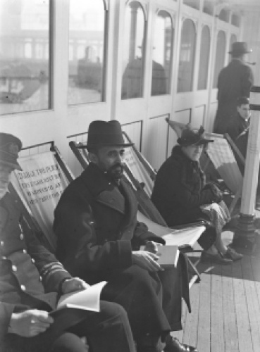 Credit: Royal Pavilion & Museums, Brighton & Hove.  Carefully posed picture of Haile Selassie on the West Pier, April 1938.  He was undoubtedly aware of the impact this image would have around the world.