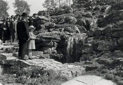 Image courtesy Brighton and Hove City Council.  Opening of The Rockery, 30th May 1936.
