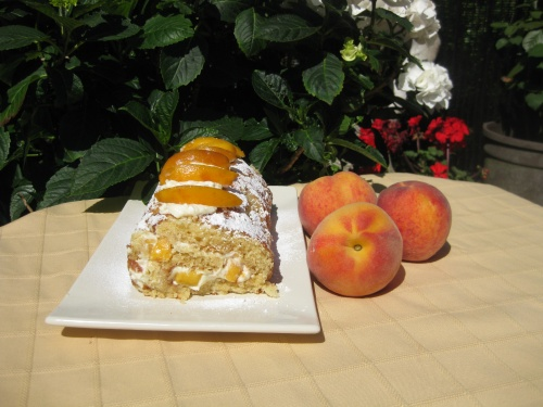 PEACH AND HONEY ROULADE recipe