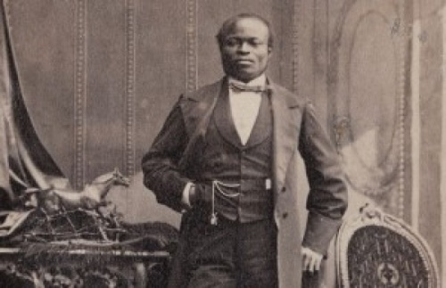 Portrait photograph of James Pinson Labulo Davies, taken by Camille Silvy, 1862. Captain JPL Davies, pioneered cocoa farming in West Africa and is described in literature as the most colourful Lagosian of his time.
