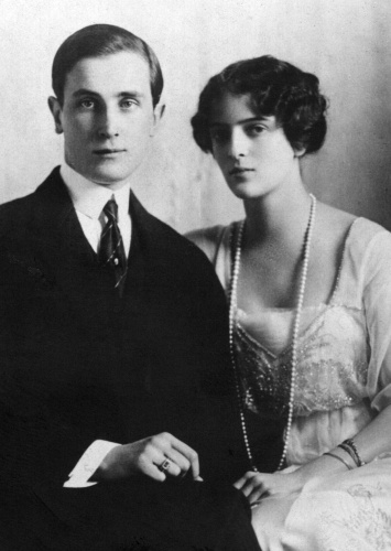 Wealthy, flamboyant aristocrat Prince Yusupov with his wife Irina, photographed in 1915, one year before Yusupov's involvement in the plot to murder Rasputin (Wikimedia Commons)