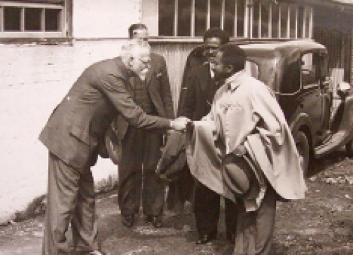 Credit: Brighton & Hove Untold. Selassie visiting a dairy farm. In Ethiopia, fresh milk sales by smallholders had an important social, cultural and economic role.